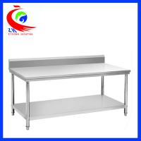 China Rolling Stainless Steel Work Table / commercial kitchen prep tables factory