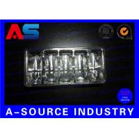 China Clear PVC Plastic Packaging Trays For Vaccines Vials 2mL / 3mL with Embossing Logo on sale