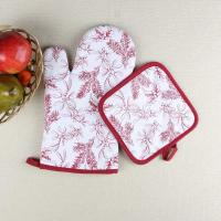 Buy cheap Leaves Printed Heat Resistant Microwave Professional Oven Gloves Pot Holder from Wholesalers
