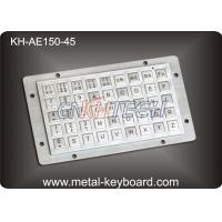 Anti - vanda Metal Kiosk Keyboards with 45 Keys , Rugged Panel Mount Keyboard