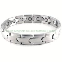 China Stainless Steel Link Magnetic Bracelet factory