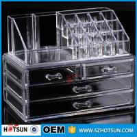 China PS or Acryic Lipsticker holder, Acrylic makeup organizer with four drawer factory