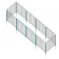 China Pre - Assembled Metal Wire Mesh Fence Panels For Safety , Easy Installtion on sale