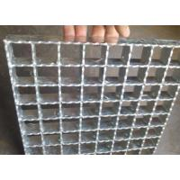 Buy cheap Hot Rolled Serrated Steel Grating Galvanized Surface Light Weight from Wholesalers