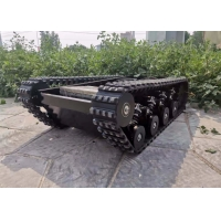 China Climbing Stair Gardeing Rubber Track Undercarriage 100KG load with steel box factory