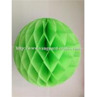 China round golding honeycomb tissue paper fan for wedding hanging honeycomb paper crafts factory