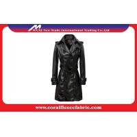 China Ladies Leather Long Trench Jacket Women Dust Coats factory