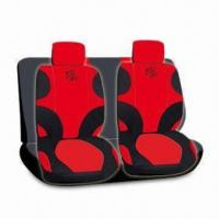 China 11-piece Set Seat Cover with Printed Logo, Made of Velvet and Mesh, Available in Various Colors factory