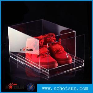 China 2016 New design acrylic shoe box/clear shoe box, Custom Shoe Box Manufacturer factory