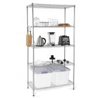 H173 Simple Design Metal Display Shelf Carbon Steel Beautifully Silver - Finished