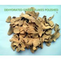 Buy cheap Dehydrated ginger flakes (polished) ,natural orgnic ginger products,grade A from wholesalers