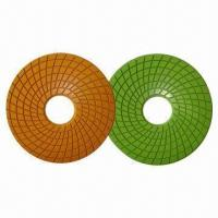 China Diamond Abrasive Pad with 2.7mm Thickness and 100mm Diameter on sale