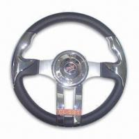 China Steering Wheel, Made of PU, Available in Diameter of 13-inch factory