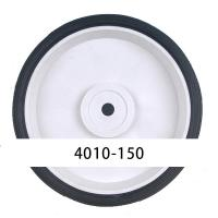 China Durability Single 150mm Oxygen Cylinder Cart Wheel PVC Tread With PP Core on sale