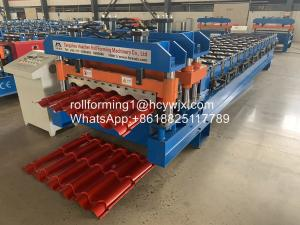 China 2m/Min PLC Control Antique Glazed Tile Roll Forming Machine on sale