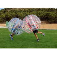China Airtight PVC And TPU Transparent Inflatable Human Bumper Soccer Bubble Football Ball With Pump factory
