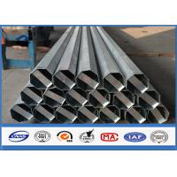 China 36.9m / s Ant i -wind Capacity galvanized metal pipe , steel transmission pole With Galvanization min 86 microns on sale