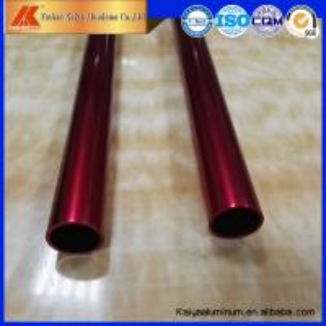 China OEM Aluminium Pipe 12.7inches Holes Glossy or Matt Aluminum Round Tube Profiles factory