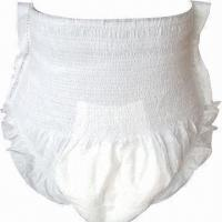 China Disposable Adult Pull-up Diaper, Flexible Waist, Soft, Breathable and Cloth, Wetness Indicator factory