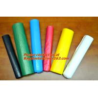 China Biodegradable, colorful Trash Bag, Refuse Sack On Roll, Disposable, Plastic Garbage Bags factory