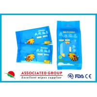 Buy cheap Individual Packaging 1pcs* 10 / Bag Baby Wet Wipes Fragrance Free Cotton Like Texture from Wholesalers