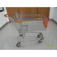 Buy cheap 150L Metal Wire Shopping Trolley , Swivel TPE Casters Supermarket Shopping Trolley from Wholesalers