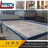 China PVC Molded Kitchen Cabinet vacuum membrane press machine on sale