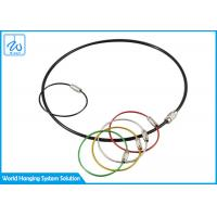 China Galvanized Cable Loop Key Ring Colorful Traveler Key Shackle Wire Loop factory