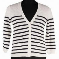 Buy cheap Women's Long Sleeved Sweater, Made of 100% Cotton with 12gg Gauge from wholesalers