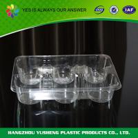 Buy cheap Clear Disposable Food Trays  Packaging  PET  Cake Tray from Wholesalers