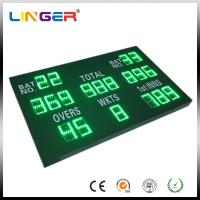 China Green Color Digital Cricket Scoreboard , Electronic Sports Scoreboard With Wireless Control Box factory