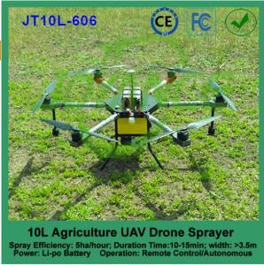 China 10L agricultural uav spraying, pesticide crop sprayer drone, uav drone crop sprayer on sale