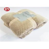 China Home Bedroom Polyester Fleece Blanket Microplush Diamond Flannel Fleece Coral Throw Blanket on sale