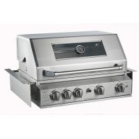 High End outdoor bbq kitchen built in 4 3KW 304 tube burners gas bbq grill bbq with rear burner, full stainless steel