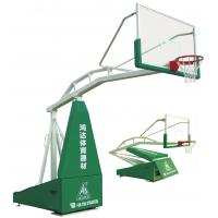 Buy cheap Steel Hydraulic Basketball Stand , Springle Balance Adjustable Height Basketball System from Wholesalers