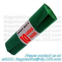 China Green bin liner, seal bags, c-fold bags, bags on roll, roll bags, produce roll, HDPE sacks factory