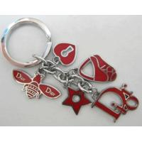 China Personalized custom fabric cute fun heart Keychain,Create custom designer keyrings factory