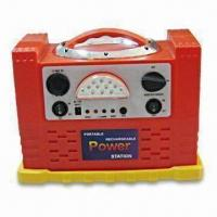 China Red Portable Power Station with Built-in Removable Magnetic LED Working Light and Switch for Boost factory
