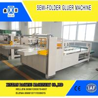 Quality Semi Automatic Paper Folding Machine / Gluing Machine With 260mm Min Feeding for sale