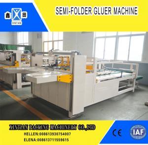 China Semi Automatic Paper Folding Machine / Gluing Machine With 260mm Min Feeding Size factory