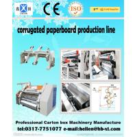 Buy cheap 2 Layer Corrugated Paperboard Making Machine 0 - 60 m / min With Clamping Arm from Wholesalers
