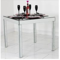 Buy cheap Full Mirror Glass Dining Table , Silver Square Mirror Top Dining Table from Wholesalers