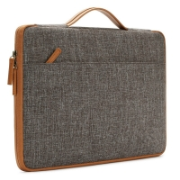 China Brown Polyester 14 Inch Laptop Case Soft Protection factory