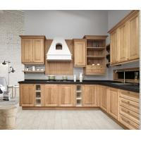 Buy cheap Solid Wood Complete Kitchen Cabinet Set Aluminium Profile Handle 18mm MFC Borad from Wholesalers