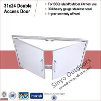 "Buy cheap 304 Stainless Outdoor BBQ Island Access Double Door 31"" Flush Mount from wholesalers"