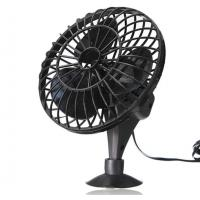 China Black 4 Inch Plastic Car Cooling Fan DC 12V Oscillating With On / Off Switch factory