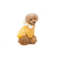 China Wholesale Autumn Winter Pet Cotton Clothes Soft High Quality Sausage Fluffy Outfit Dog Jumper Coats factory