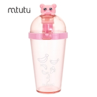 China 450ml AS PP Cartoon Reusable Water Bottle For Children factory
