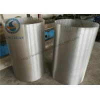 Buy cheap 304 SS Johnson Screens Groundwater And Wells V Shape For Drum FIlter from Wholesalers