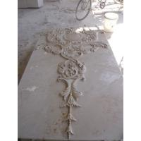 China Beige marble carved panel by hand factory
